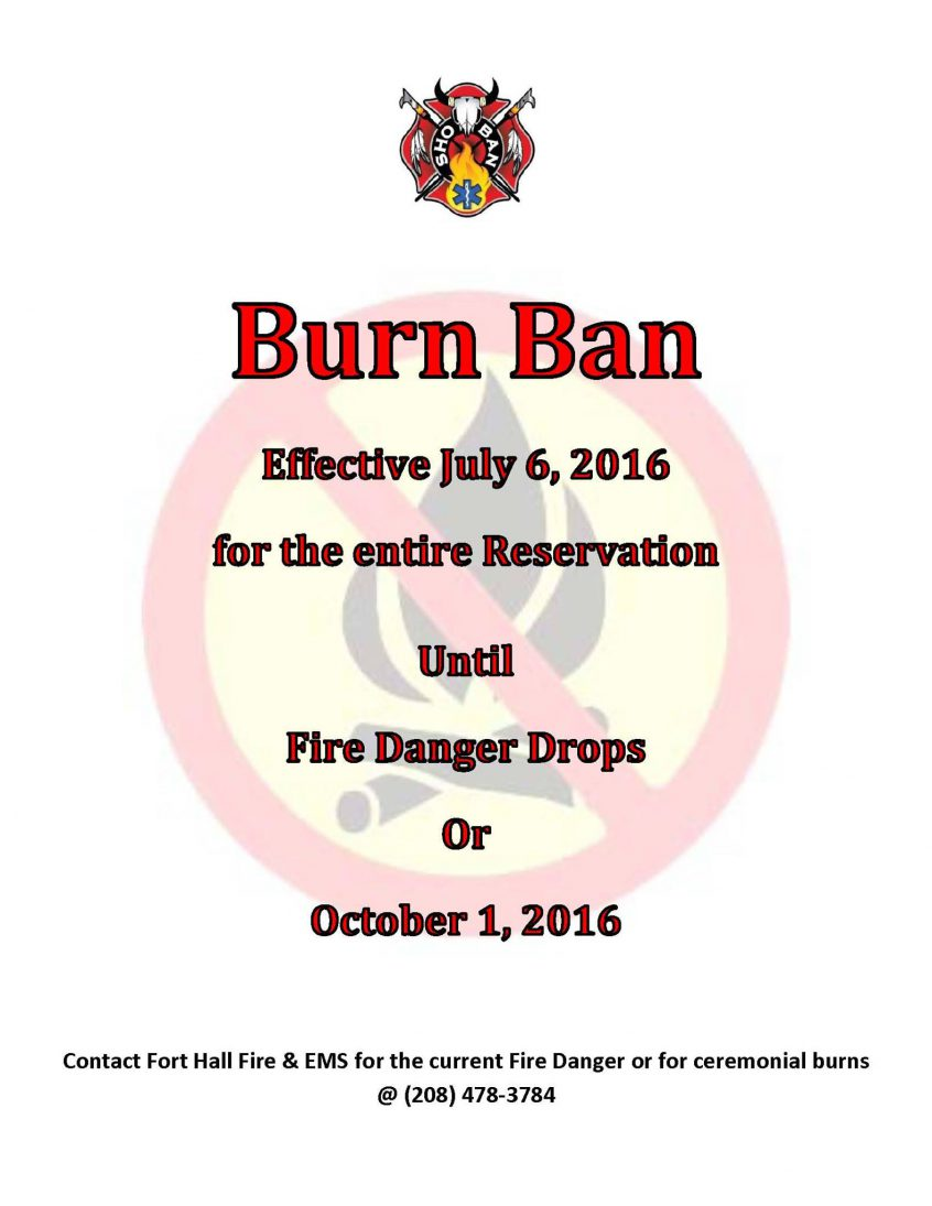 Fort Hall Fire Ban