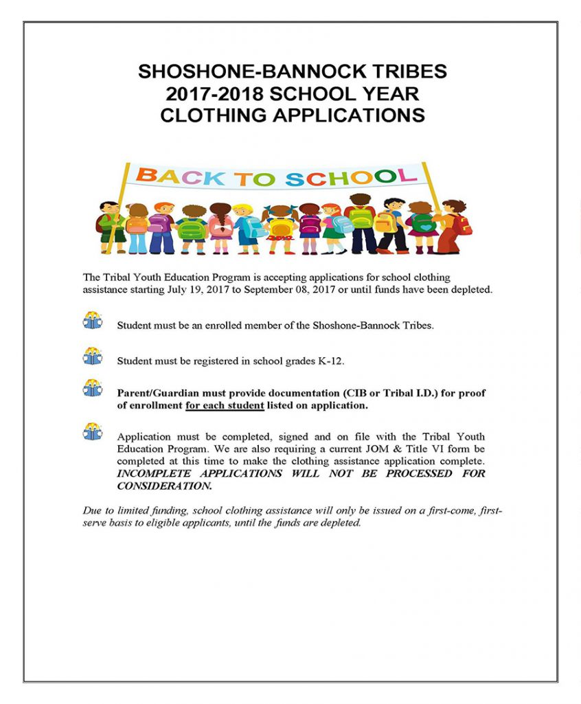 Back to School Assistance