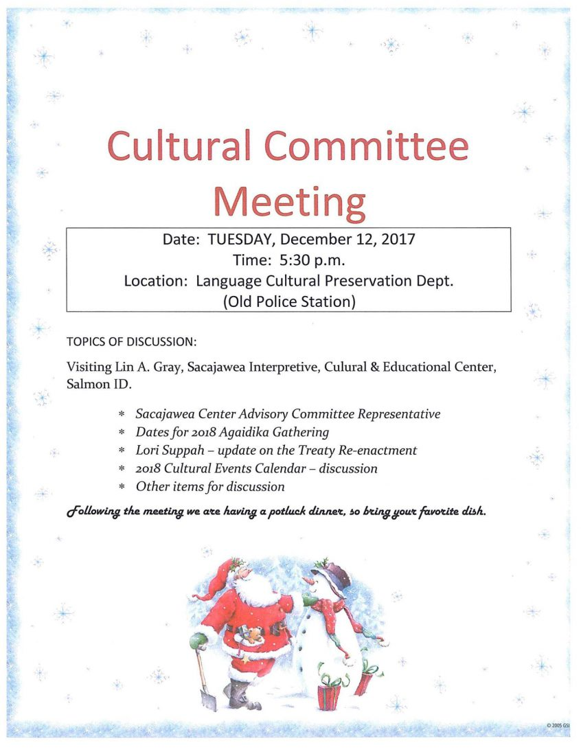 Language and Culture Monthly Meeting